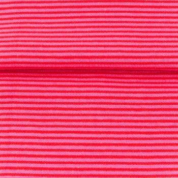 fijne boordstof roze/rood-  smal streepje 2 mm