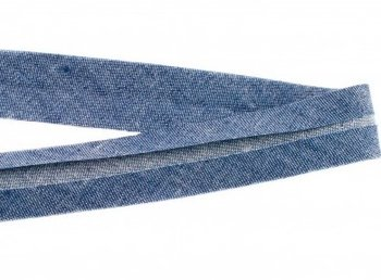 biaisband 20 mm, jeanskleur