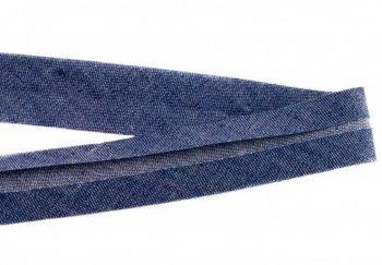 biaisband 20 mm, jeanskleur donker