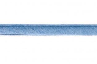 paspelband lichte jeanskleur 100% katoen