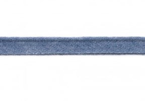 paspelband jeanskleur 100% katoen