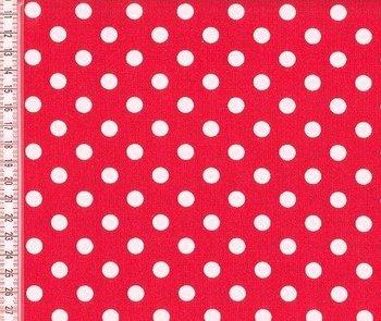 Verena: mooi warm rood met witte noppen