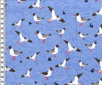Seagull wave lichtblauw: tricot naar het design van Lila-Lotta