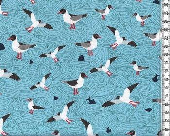 Seagull wave mint/turquoise: tricot naar het design van Lila-Lotta
