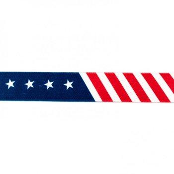 taille-elastiek 2,5 cm breed: Amerikaprint /HALVE METER