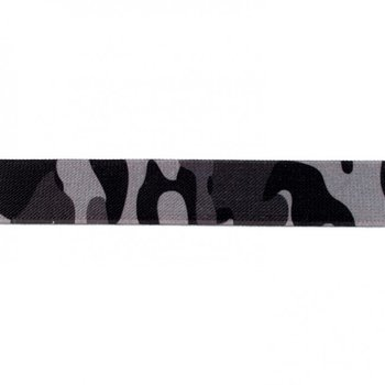 taille-elastiek 2,5 cm breed: legerprint /HALVE METER