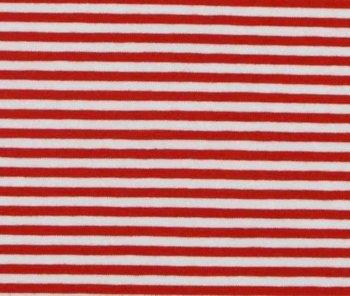 Gitta: strepentricot rood/witte streep