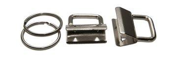 sleutelhangerklem 25 mm: éen klem met één sleutelring (los geleverd).
