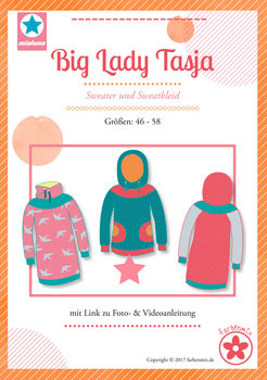 Big Lady Tasja, sweater en sweatjurk in de maten 46 t/m 58