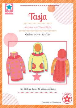 Tasja, sweater en sweatjurk in de maten 74/80 - 158/164