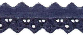 broderie smal, donkerblauw