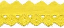 broderie smal, geel