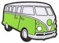 Volkswagenbus limegroen