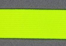 taille-elastiek 4 cm breed: neongeel /HALVE METER