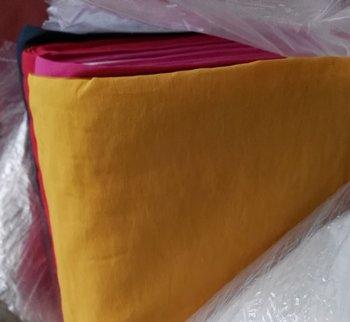 taslan jassenstof oker (heel donker geel)