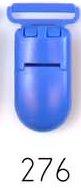 bretelclip, kunststof speenkoordclip blauw