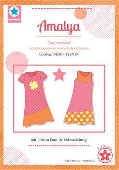 Amalya, sweater en sweatjurk in de maten 74/80 - 158/164 / introductieaanbieding