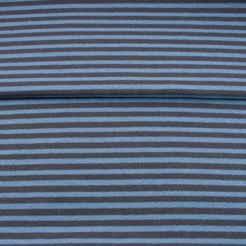 fijne boordstof jeans/donkerblauw- streep 3,3 mm