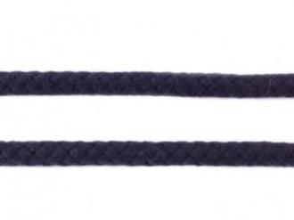 Koord 8 mm gevlochten katoenen koord, donkerblauw