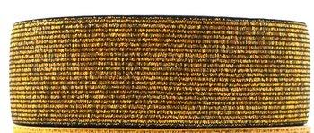 taille-elastiek 4 cm breed: donker goud /HALVE METER