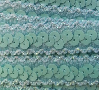 elastisch paillettenband, mint/lichtblauw
