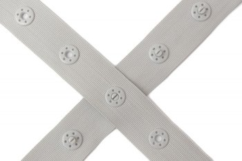 drukkertjesband grijs-lichttaupe: afstand 2,5 cm: HALVE meter