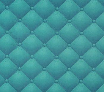 Geplastificeerde katoen petrol/turquoise met