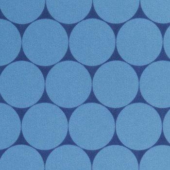 softshell grote rondjes jeanskleur/donkerblauw, winddicht