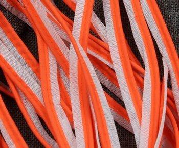 reflecterend paspelband, fluoriserend oranje