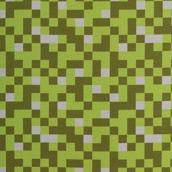 Vera: pixeltricot groene tinten