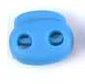 koordstopper met twee gaten voor koord tot maximaal 5 mm, turquoise