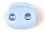 koordstopper met twee gaten voor koord tot maximaal 5 mm, lichtblauw