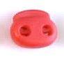 koordstopper met twee gaten voor koord tot maximaal 5 mm, rood
