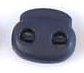 koordstopper met twee gaten voor koord tot maximaal 5 mm, diep donkerblauw