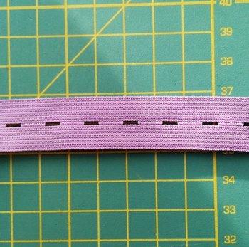 knoopsgatenelastiek lila 1,8 cm