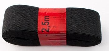 bosje elastiek 2,5 meter zwart /30 mm breed/ past niet in enveloppe