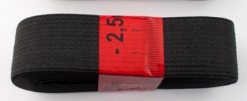 bosje elastiek 2,5 meter zwart /25 mm breed