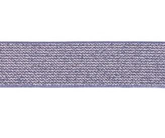 glitter-taille-elastiek jeanskleur 2,5 cm breed:  / HALVE METER