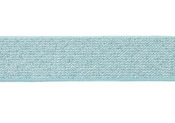 glitter-taille-elastiek mint 2,5 cm breed:  / HALVE METER