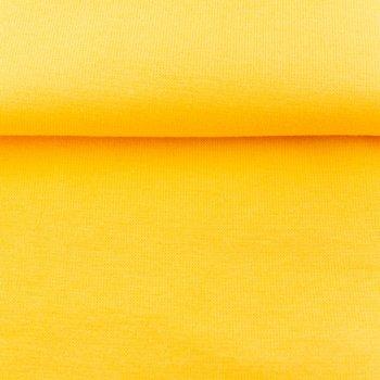 fijne boordstof kanairiegeel/ 70 cm rondgebreid