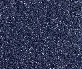 fijne boordstof donker jeansblauw met zilver lurex / 90 cm rondgebreid
