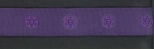 drukkertjesband paars: afstand 2,5 cm: HALVE meter