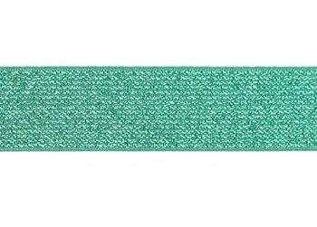 glitter-taille-elastiek oud groen 2,5 cm breed:  / HALVE METER