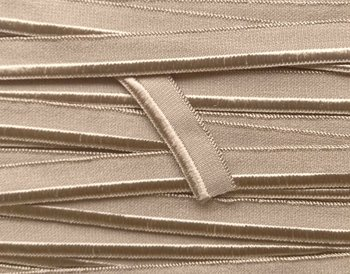 elastisch paspelband, taupe (beige-grijs)