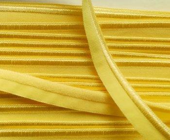 elastisch paspelband, geel