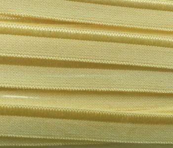 elastisch paspelband, botergeel