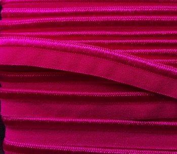 elastisch paspelband, fuchsia neigend naar rodekool-paars