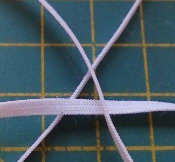 plat poppenelastiek 3,5 mm breed wit