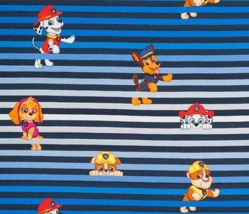 Paw Patrol, tricot met de bekende hondjes op verlopende strepen