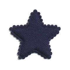 sterretje vilt donkerblauw